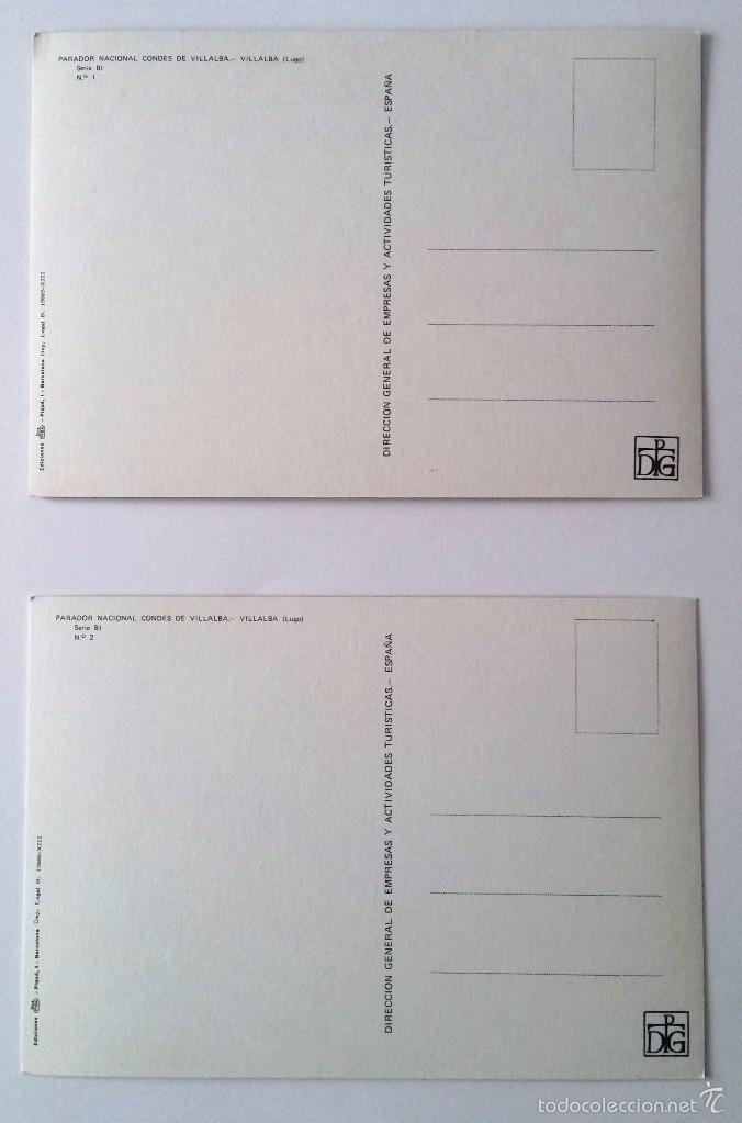 Postales: PARADOR NACIONAL CONDES DE VILLALBA (LUGO). EDICIONES FISA. POSTALES SIN CIRCULAR. - Foto 3 - 61198635