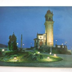 Postales: POSTAL PONTEVEDRA - VIGO - PARQUE MUNICIPAL DE LA GUIA - MONUMENTO SAGRADO CORAZON DE JESUS - NOCTUR. Lote 61655312