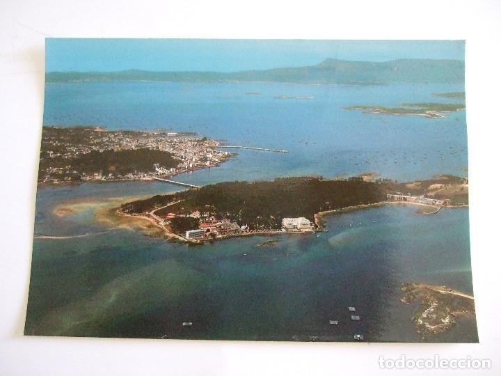 POSTAL PONTEVEDRA - ISLA DE LA TOJA - VISTA AEREA - 1979 - FAMA 3022 - SIN CIRCULAR (Postales - España - Galicia Moderna (desde 1940))