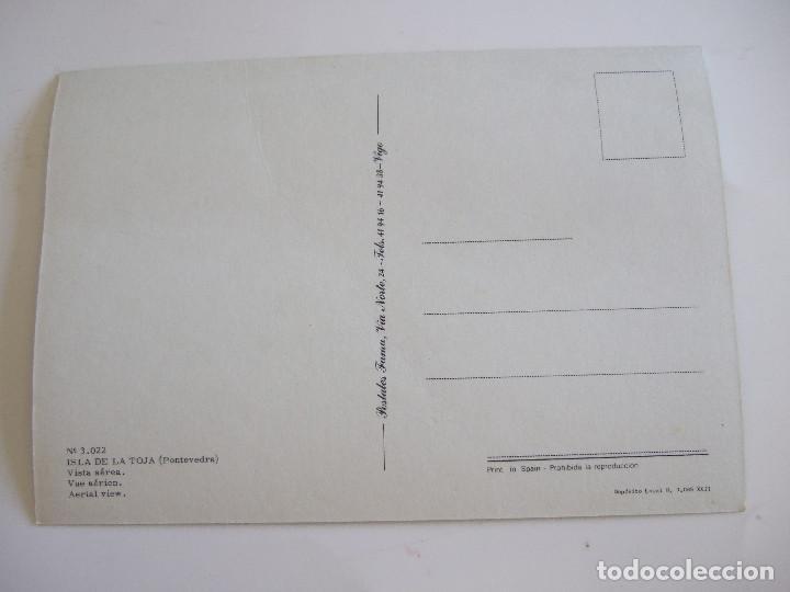 Postales: POSTAL PONTEVEDRA - ISLA DE LA TOJA - VISTA AEREA - 1979 - FAMA 3022 - SIN CIRCULAR - Foto 2 - 61655792