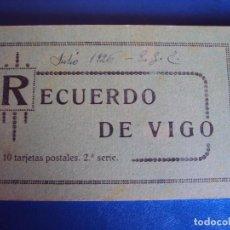 Postales: (PS-49728)BLOK DE 10 POSTALES RECUERDO DE VIGO,2ª SERIE. Lote 62366692