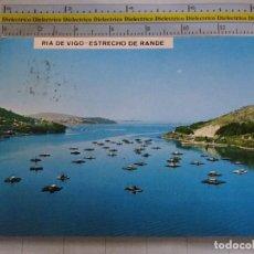 Postales: POSTAL DE PONTEVEDRA. AÑO 1971. VIGO, RÍA, ESTRECHO DE RANDE. 1018. Lote 62417760