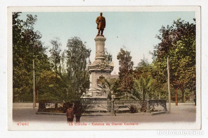 LA CORUÑA. ESTATUA DE MANUEL CARBALLO. MUY ANTIGUA. (Postales - España - Galicia Antigua (hasta 1939))