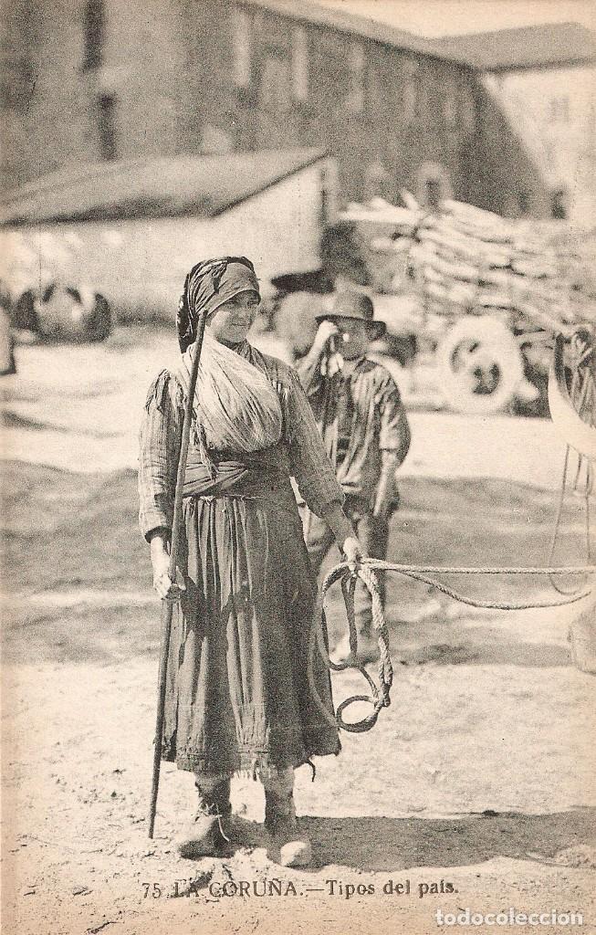 LA CORUÑA Nº 75 TIPO DEL PAIS GRAFOS SIN CIRCULAR (Postales - España - Galicia Antigua (hasta 1939))