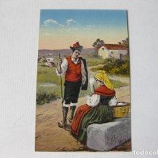 Postales: TARJETA POSTAL DE LUGO CON TRAJES TIPICOS. M. PALOMEQUE Nº 28. LUCO AUGUSTA. Lote 63715103