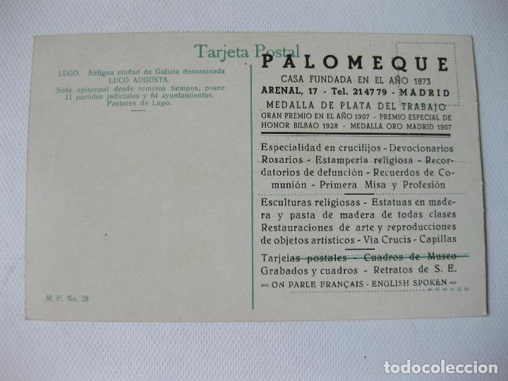 Postales: TARJETA POSTAL DE LUGO CON TRAJES TIPICOS. M. PALOMEQUE Nº 28. LUCO AUGUSTA - Foto 2 - 63715103