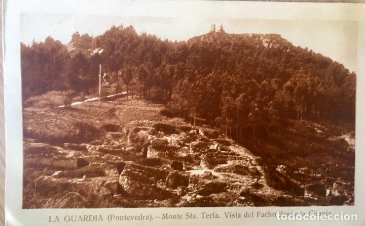 Postales: albumina La guardia Pontevedra monte de santa tecla . Vista del Facho desde la citania - Foto 3 - 227049565