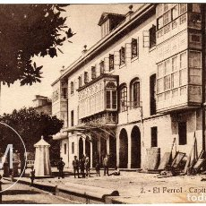 Postales: PRECIOSA POSTAL - EL FERROL (LA CORUÑA) - CAPITANIA GENERAL . Lote 64520779