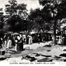Postales: POSTAL LA CORUÑA.- MERCADO DEL CAMPO DE LA LEÑA -IMP.FERRER -CIRCULADA EN 1909 ------EXCELENTE------. Lote 64626879