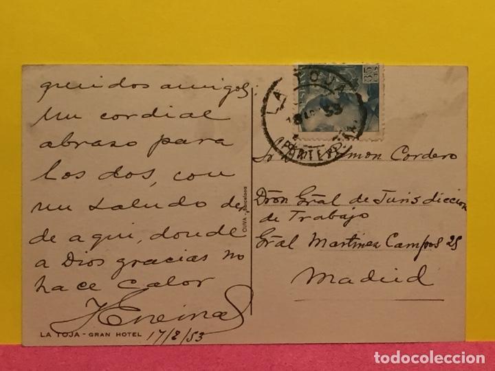 Postales: postal la toja gran hotel desde la ría ed. Oliva Barcelona - Foto 2 - 191027710