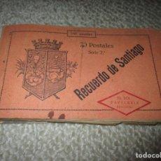 Postales: RECUERDO DE SANTIAGO. EL SOL PAPELERÍA. BLOC 20 POSTALES, 2ª SERIE, COMPLETO. Lote 65294379