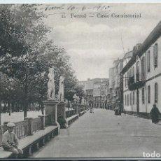 Postales: EL FERROL (LA CORUÑA) - CASA CONSISTORIAL. Lote 65426099