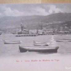 Postales: VIGO GRAN MUELLE DE MADERA. Lote 66171910