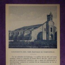 Postales: POSTAL - ESPAÑA - SANTIAGO DE COMPOSTELA - COLEGIATA DEL SAR - COMENTA PEDRO RÉPIDE - CAYON. Lote 66452470