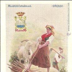 Postales: ORENSE, MUJERES ESPAÑOLAS. ED. CALLEJA Nº 133 - SIN CIRCULAR - SIN DIVIDIR. Lote 67111273