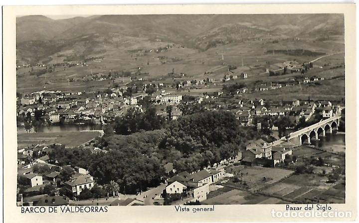 POSTAL DE BARCO DE VALDEORRAS, ORENSE, VISTA GENERAL, BAZAR EL SIGLO. ESCRITA. (Postales - España - Galicia Antigua (hasta 1939))