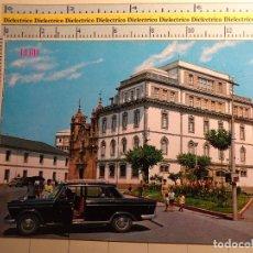 Postales: POSTAL DE LUGO. AÑO 1970. PLAZA DEL FERROL, SEAT 1500. 616. Lote 68310253