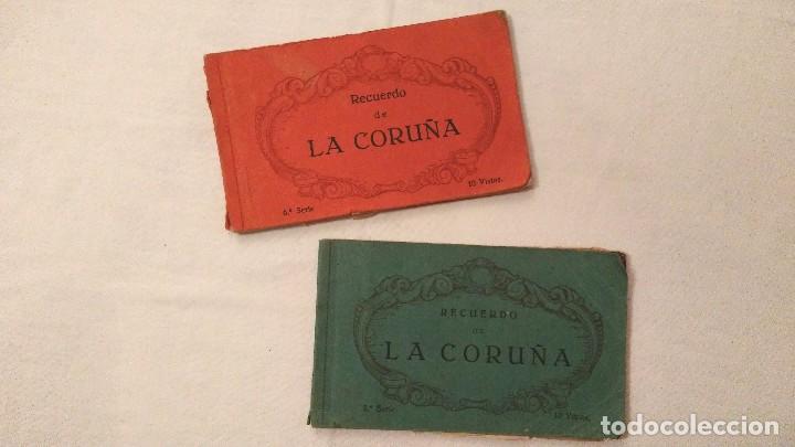 LIBROS 10 POSTALES RECUERDO DE LA CORUÑA - HELIOTIPIA DE KALLMEYER Y GAUTIER; 2ª Y 6ª SERIES; 45€/UD (Postales - España - Galicia Moderna (desde 1940))