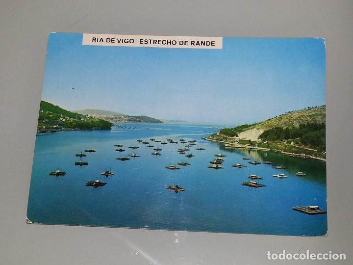 ANTIGUA POSTAL Nº RIA DE VIGO ESTRECHO DE RANDE MEJILLONERAS VISTA AEREA AÑOS 60 POSTALES FAMA (Postales - España - Galicia Moderna (desde 1940))