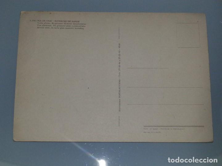 Postales: ANTIGUA POSTAL Nº RIA DE VIGO ESTRECHO DE RANDE MEJILLONERAS VISTA AEREA AÑOS 60 POSTALES FAMA - Foto 2 - 68806777