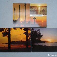 Postales: LOTE DE 3 POSTALES DE GALICIA PUESTAS DE SOL.. Lote 69569149