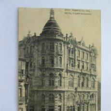 Postales: VIGO PUERTA DEL SOL HOTEL Y CAFÉ MODERNO. HAUSER Y MENET. Lote 70507741