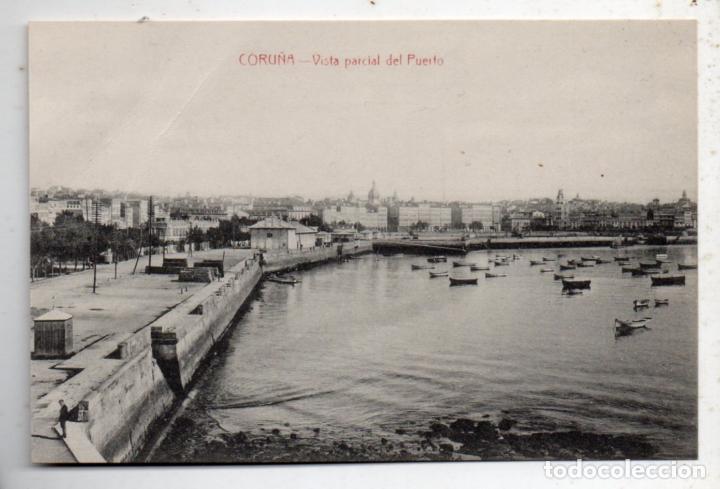 LA CORUÑA. VISTA PARCIAL DEL PUERTO. (Postales - España - Galicia Antigua (hasta 1939))