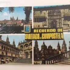 Postales: POSTAL RECUERDO SANTIAGO DE COMPOSTELA CIRCULADA - 1965. Lote 71806963