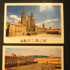 Postales: ANTIGUAS POSTALES SANTIAGO DE COMPOSTELA CORUÑA CATEDRAL PLAZA OBRADOIRO HOSTAL REYES CATOLICOS . Lote 71811707
