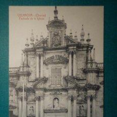 Postales: POSTAL - ESPAÑA - ORENSE - CELANOVA - FACHADA DE LA IGLESIA - SIN EDITOR - NC - ESCRITA 1920. Lote 71850163