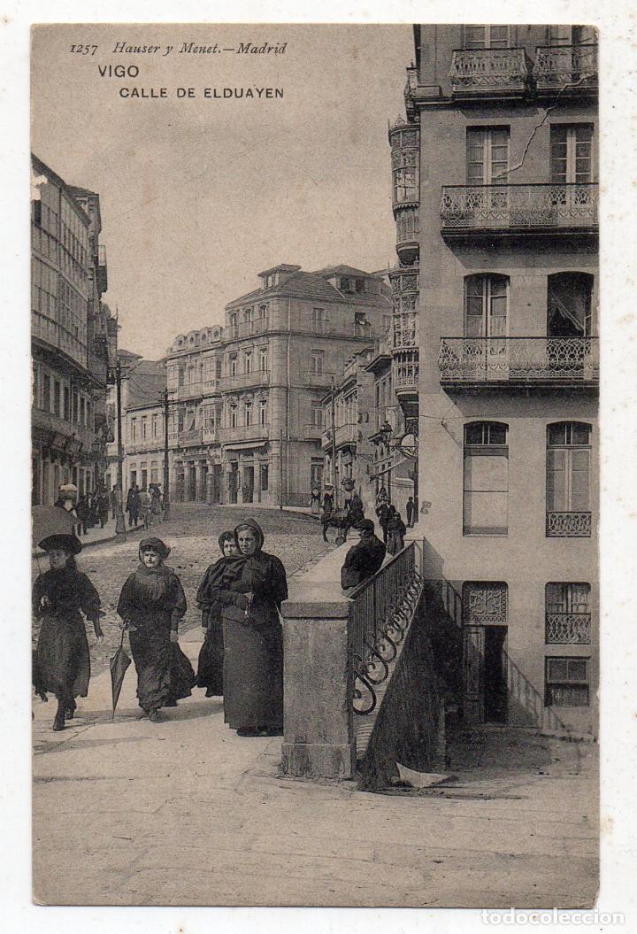 VIGO. CALLE DE ELDUAYEN. ANIMADA. (Postales - España - Galicia Antigua (hasta 1939))