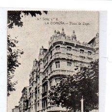 Postales: TARJETA POSTAL,LA CORUÑA ,PLAZA DE LUGO., EDIT. FERRER.. Lote 73595855
