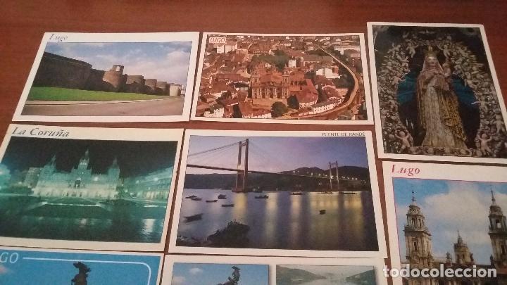 Postales: Lote de 10 postales de Galicia - Foto 2 - 74317263