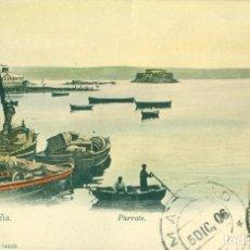 Postais: CORUÑA PARROTE CIRCULADA EN 1906 COLOREADA A MANO.. Lote 74342507