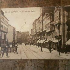 Postales: LA CORUÑA CALLE DE SAN ANDRÉS SIN CIRCULAR . Lote 74625125