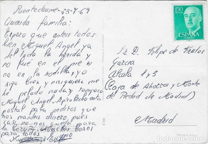 Postales: PONTEDEUME - AÑO 1969 - ESCRITA - Foto 2 - 74678339