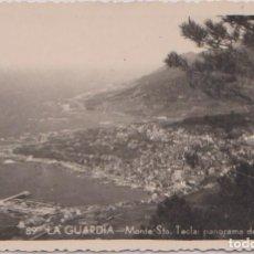 Postales: LA GUARDIA (PONTEVEDRA) - MONTE SANTA TECLA - PANORAMA DE LA POBLACION. Lote 75840915