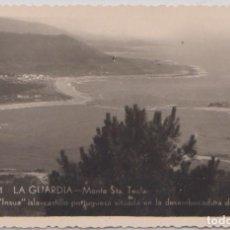 Postales: LA GUARDIA (PONTEVEDRA) - MONTE SANTA TECLA - LA INSUA ISLA CASTILLO PORTUGUESA DESEMBOCADURA MIÑO. Lote 75841191