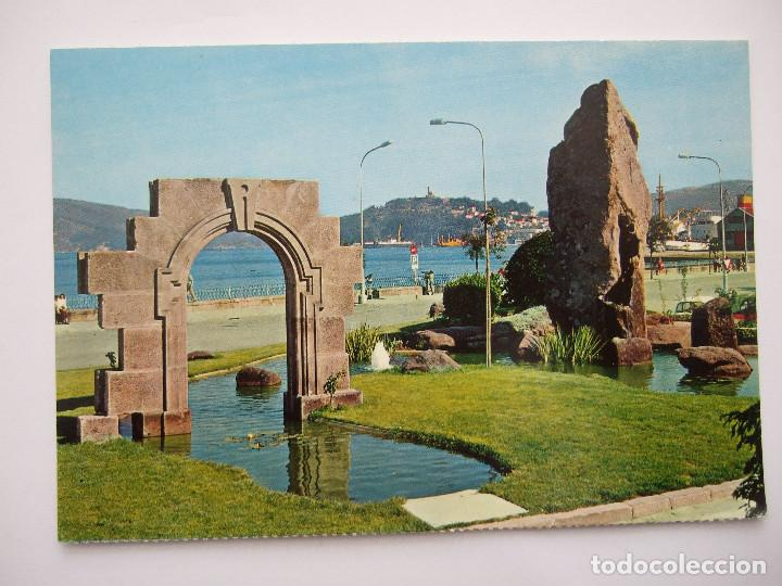 POSTAL PONTEVEDRA - VIGO - JARDINES AVDA EL DUAYE - 1972 - FARDI 139 - SIN CIRCULAR (Postales - España - Galicia Moderna (desde 1940))