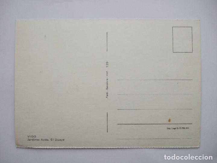Postales: POSTAL PONTEVEDRA - VIGO - JARDINES AVDA EL DUAYE - 1972 - FARDI 139 - SIN CIRCULAR - Foto 2 - 76616871