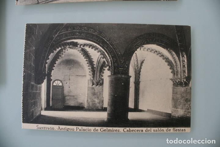 Postales: 12 RARAS ANTIGUAS TARJETAS POSTALES BLANCO NEGRO SEPIA SANTIAGO COMPOSTELA CORUÑA – EL SOL PAPELERIA - Foto 5 - 77068197