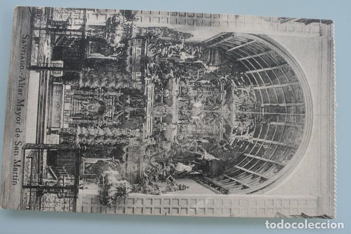 Postales: 12 RARAS ANTIGUAS TARJETAS POSTALES BLANCO NEGRO SEPIA SANTIAGO COMPOSTELA CORUÑA – EL SOL PAPELERIA - Foto 8 - 77068197