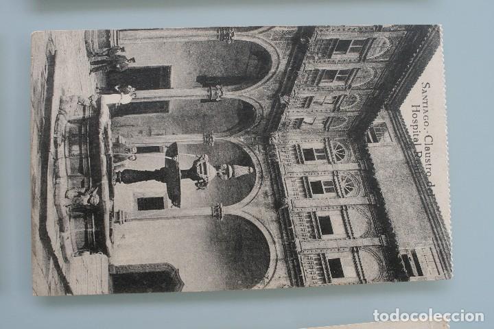 Postales: 12 RARAS ANTIGUAS TARJETAS POSTALES BLANCO NEGRO SEPIA SANTIAGO COMPOSTELA CORUÑA – EL SOL PAPELERIA - Foto 10 - 77068197