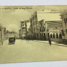 Postales: ANTIGUA POSTAL DE LA CORUÑA - CALLE DE JUAN FLOREZ - GRAFOS MADRID - NO CIRCULADA . Lote 77316465