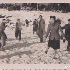 Postales: LA CORUÑA - ESCENA NEVADA EN EL MONTE DE SANTA MARGARITA 13 ENERO 1946. Lote 78021857