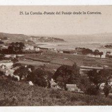 Postales: LA CORUÑA. PUENTE DEL PASAJE DESDE LA CORVEIRA.. Lote 78223741