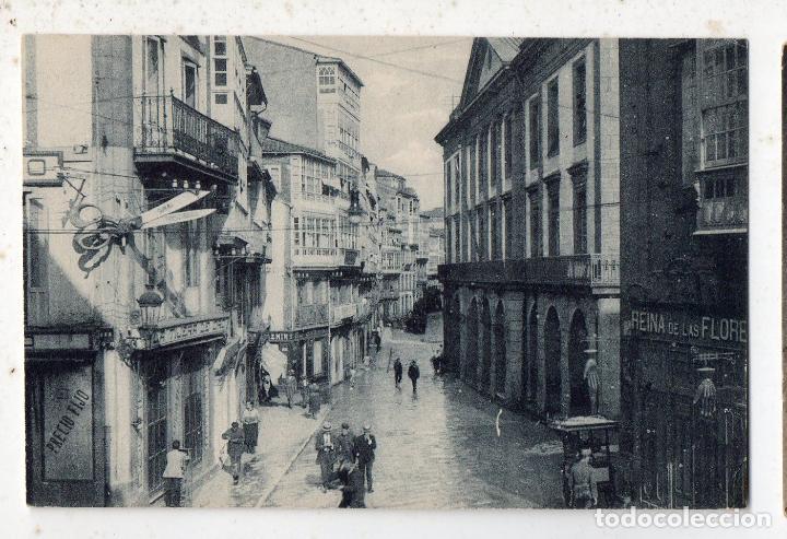 LA CORUÑA. TEATRO ROSALÍA Y CALLE DE REGO DE AGUA. (Postales - España - Galicia Antigua (hasta 1939))