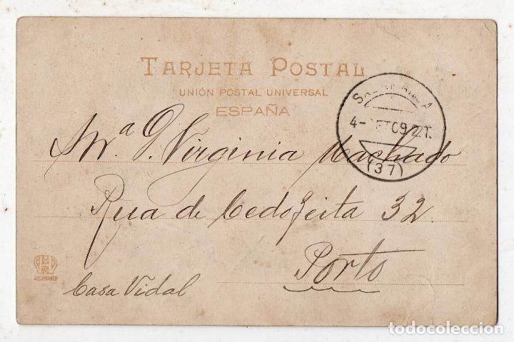 Postales: Vigo. Tipos del País. Franqueada el 4 de Septiembre de 1909. - Foto 2 - 80743762