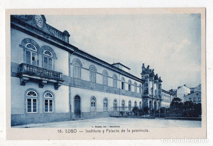 LUGO. INSTITUTO Y PALACIO DE LA PROVINCIA. (Postales - España - Galicia Antigua (hasta 1939))
