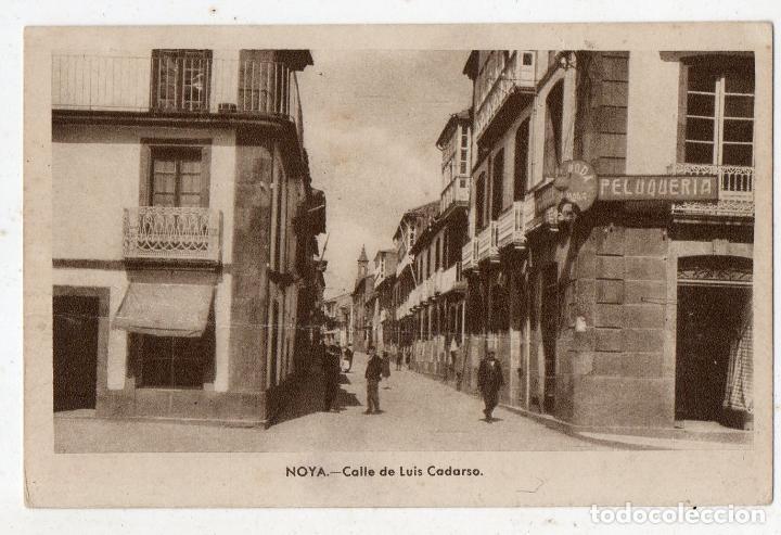 NOYA. CALLE DE LUIS CADARSO. (Postales - España - Galicia Antigua (hasta 1939))